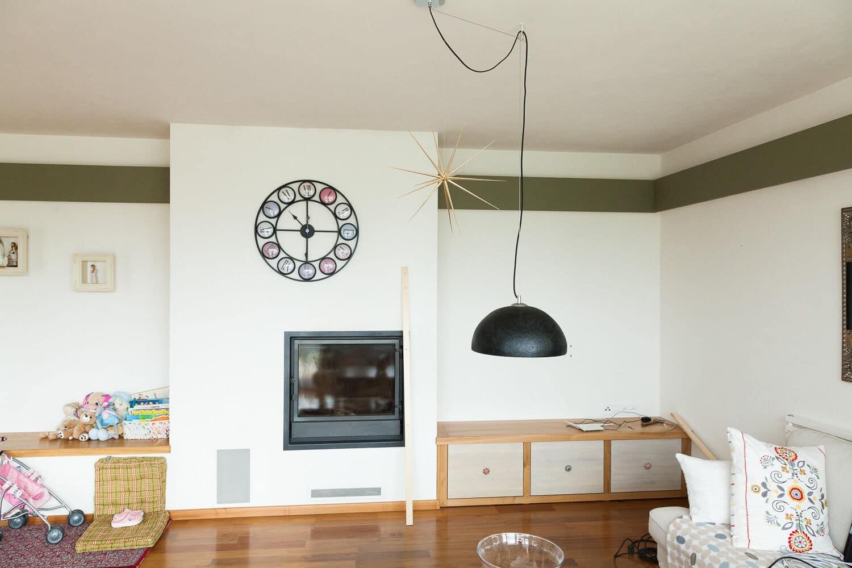 Obklad stěny dřevěnou podlahou parketa elegant